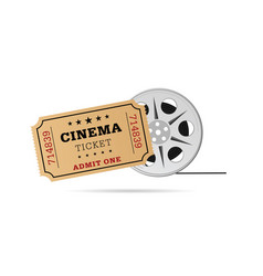 Cinema ticket with tape vector