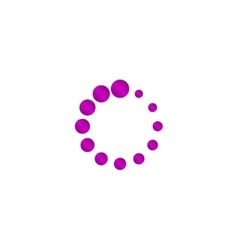 circular loading icon vector image