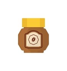 Coffee jar simplified vector