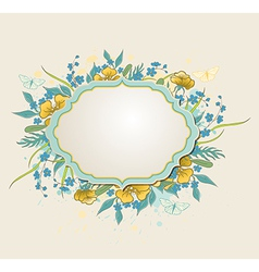 Decorative background with yellow flowers vector image