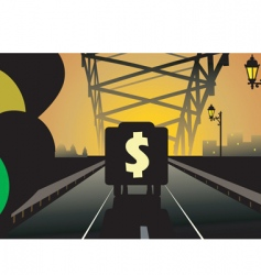 dollar and truck vector image vector image