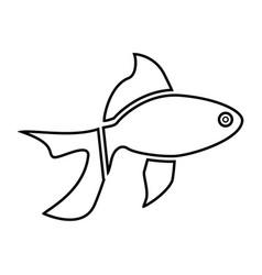 fish black color icon vector image