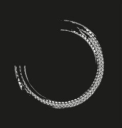 Grunge tire element vector