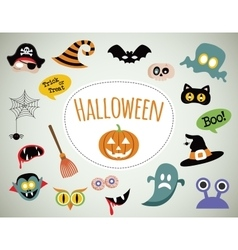 Halloween symbols and icons collection vector image