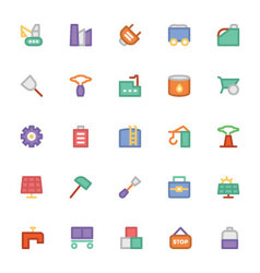 Industrial colored icons 10 vector
