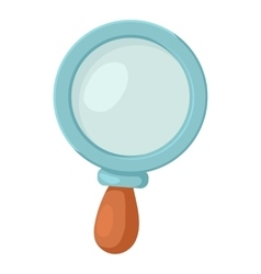 Magnifier icon cartoon style vector image