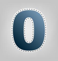 number 0 sign design template element vector image