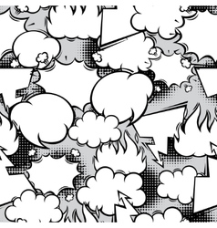 Seamless pattern of comic speech bubbles in vector image
