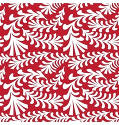 seamless red floral pattern vector image