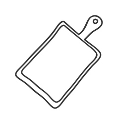 Silhouette monochrome with chopping board vector