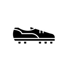 soccer boot icon black sign vector image vector image