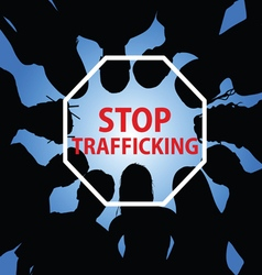 Stop trafficking with people vector
