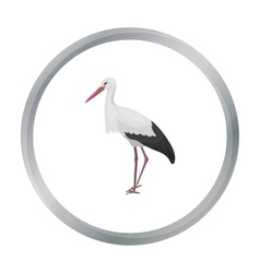 Stork icon in cartoon style isolated on white vector image vector image
