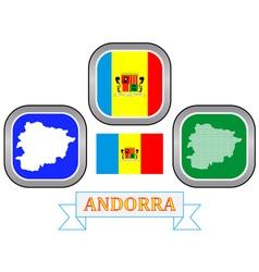 symbol of Andorra vector image vector image