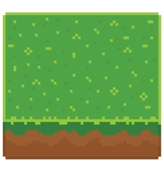 Texture for platformers pixel art - ground vector image vector image