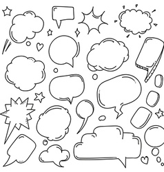 Background of abstract talking bubbles Set of vector image