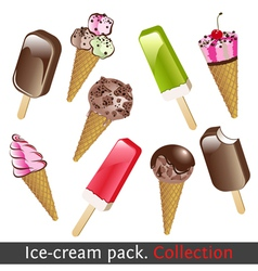 Ice cream pack vector