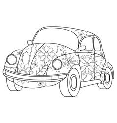 car coloring vector image
