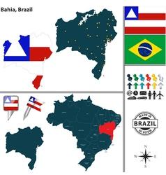 Map of Bahia vector image
