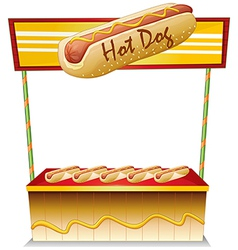A hotdog stand vector image