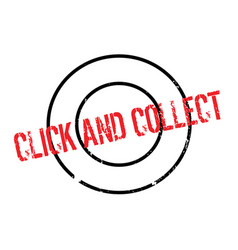 Click and collect rubber stamp vector