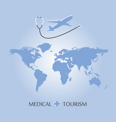 Medical tourism background vector