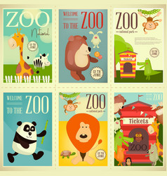 Zoo park posters vector