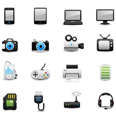 Electronic And Devices Icons vector image