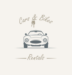 Old car in vintage style vector