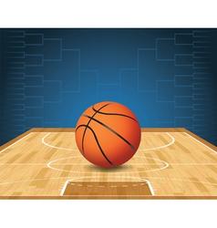 Basketball Bracket Court and Ball vector image