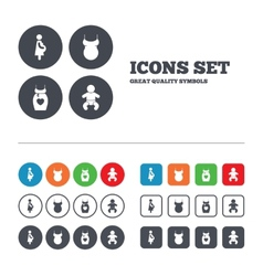 Maternity icons baby infant pregnancy dress vector