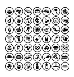 49 different food icons set 2 vector image vector image