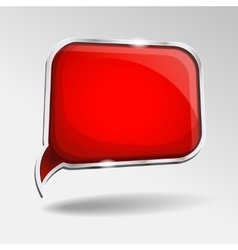 Abstract glossy red speech bubble vector