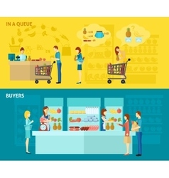 Buyer banner set vector