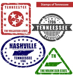 Tennessee in stamps vector