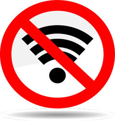 Ban wifi internet vector