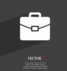 Suitcase symbol flat modern web design with long vector
