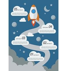 Rocket launch infographic vector