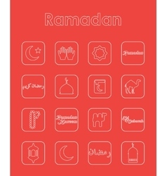 Set of ramadan simple icons vector