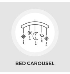 Bed carousel flat icon vector