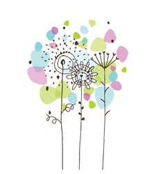 Flowers - freehand drawing vector