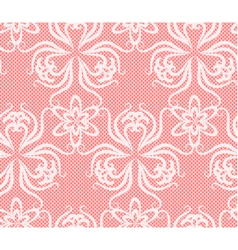 Lace flower elegant pink net vector