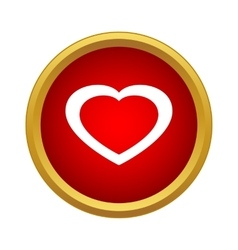 Healthy heart icon simple style vector