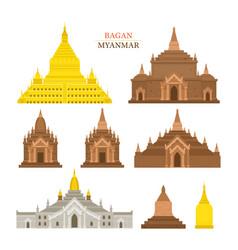 bagan myanmar architecture building landmarks vector image vector image