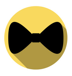 Bow tie icon flat black icon with flat vector