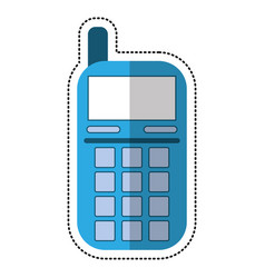 cartoon smartphone telephone technology icon vector image vector image