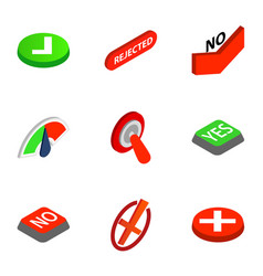 Check mark icons isometric 3d style vector