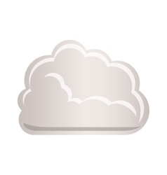 cloud tridimensional in cumulus shape vector image vector image