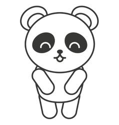 Cute bear panda animal tender isolated icon vector