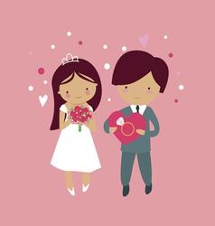Cute wedding vector image vector image